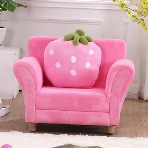 Mode kinderen sofa schattig cartoon doek kunst aardbei prinses sofa (roze)