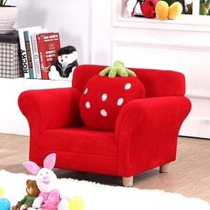 Mode kinderen sofa schattig cartoon doek kunst aardbei prinses sofa (rood)