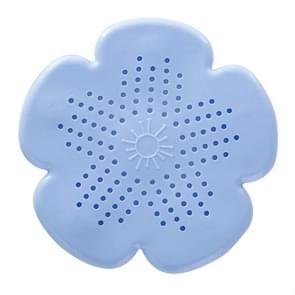2 PC'S bloem vorm badkamervloer afvoer haar stopper filter gootsteen zeef (blauw)