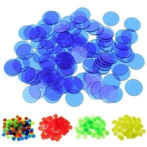 100 PCS transparante plastic casino poker chips Bingo tag token kinderen speelgoed geschenken (willekeurige kleur Dlivery)