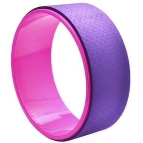 TPE + Alloy yoga wiel terug trainingshulpmiddel (paars)