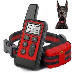 500m Dog Training Bark Stopper Afstandsbediening Elektrische Schok waterdichte elektronische kraag (Rood)
