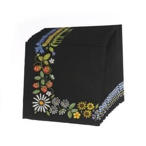 5 PCS Kleurrijke Print Zwarte Bloemen Partij Decoratie Servet gezichtsweefsel