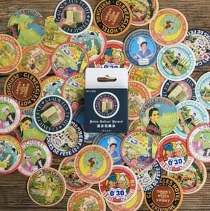 2 PCS Retro Collection Handboek Album Decoratieve Sticker Verzegeling Sticker DIY Sticker
