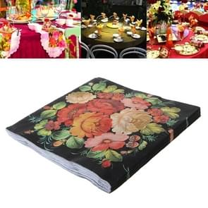 Kleurrijke gedrukte Wedding Banquet Servetten Placemats