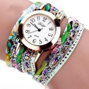 Douya D048 nationale stijl cirkel armband quartz horloge (rood)