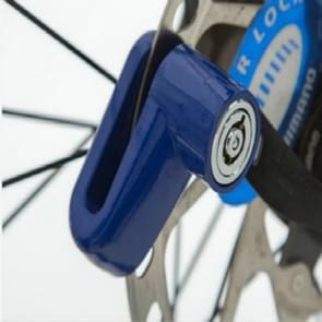 2-delige Heavy Duty motorfiets brommer scooter schijf Brake rotor anti-diefstal beveiligingsslot (blauw)