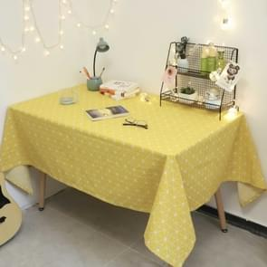 Square Checkered Tablecloth Furniture Table Dust-proof Decoration Cloth  Size:140x220cm(Yellow)
