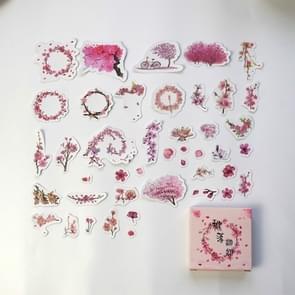 2 PC'S tijd wiel account materiaal decoratie sticker boxed DIY kleur cute print hand account dagboek kleine verse Memo pad (perzik gevallen)