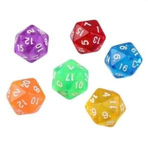 50 PCS polyhedron outdoor bar familie partij spel dobbelstenen bordspel accessoires (willekeurige kleur Dlivery)