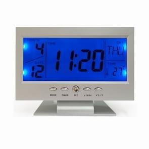 Groot scherm elektronische klok slimme Mute lichtgevende klok met thermometer