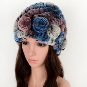 Echte Konijnenbont gras ananas hoed Koreaanse versie van de Women's warm oorbeschermers (kleurrijke 5)