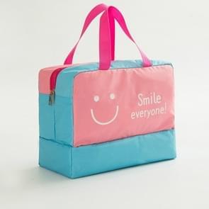 Mode mannen en vrouwen reizen waterdichte opslag zak Oxford doek reistas zwemmen zak strand tas (roze smiley gezicht)