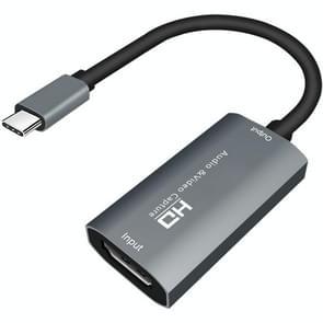 Z29A HDM Female naar USB-C / Type-C Male Video Audio Capture Box(Grijs)