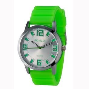 WeiYaQi 891 Fashion polshorloge met Silicagel horloge Band (groen)