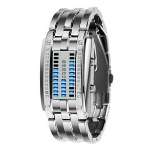 SKMEI multifunctionele vrouwelijke outdoor Fashion Noctilucent waterdichte LED digitale horloge (wit)