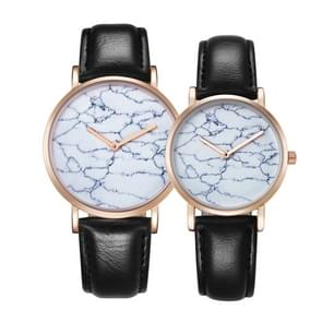 CAGARNY 6812 Round Dial Alloy Gold Case Fashion Couple Watch Men & Women Lover Quartz Watches with PU Leather Band