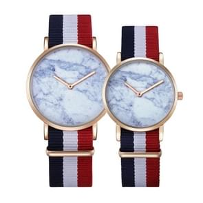CAGARNY 6812 Round Dial Alloy Gold Case Fashion Couple Watch Men & Women Lover Quartz Watches with Nylon Band