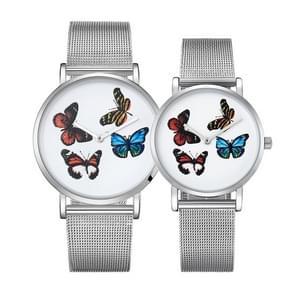 CAGARNY 6812 ronde wijzerplaat Alloy Silver Case mode paar Watch mannen & vrouwen minnaar Quartz horloges met Stainless stalen band