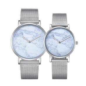 CAGARNY 6812 Round Dial Alloy Silver Case Fashion Couple Watch Men & Women Lover Quartz Watches with Stainless Steel Band