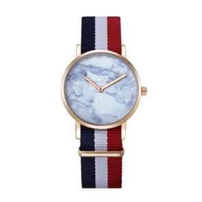 CAGARNY 6812 ronde wijzerplaat Alloy goud Case mode vrouwen kijken Quartz horloges met Nylon Band