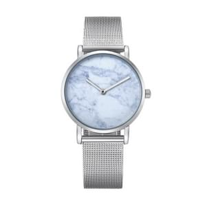 CAGARNY 6812 Round Dial Alloy Silver Case Fashion Women Watch Quartz Watches with Stainless Steel Band