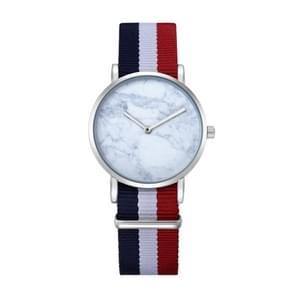 CAGARNY 6812 ronde wijzerplaat Alloy Silver Case mode vrouwen kijken Quartz horloges met Nylon Band