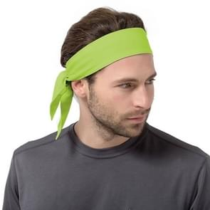 Unisex Sweat Wicking Stretchy Exercise Yoga Gym Bandana Headband Sweatband Head Tie Scarf Wrap  Size: 1.2*0.06m (Light Green)