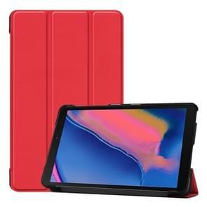 Custer textuur horizontale Flip lederen case voor Galaxy tab A 8 0 (2019) P205/P200  met drie-opvouwbare houder (rood)