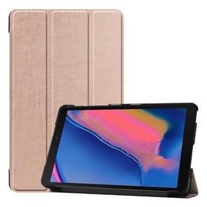 Custer textuur horizontale Flip lederen case voor Galaxy tab A 8 0 (2019) P205/P200  met drie-vouwen houder (Rose goud)