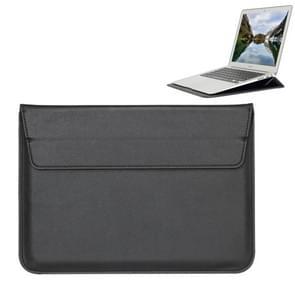 Universele envelop stijl PU lederen draagtas met houder voor uiterst dunne Notebook Tablet PC 13 3 inch  maat: 35x25x1.5cm(Black)