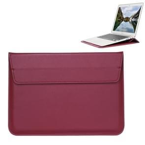 Universele envelop stijl PU lederen draagtas met houder voor uiterst dunne Notebook Tablet PC 13 3 inch  maat: 35x25x1.5cm