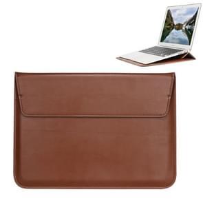 Universele envelop stijl PU lederen draagtas met houder voor uiterst dunne Notebook Tablet PC 13 3 inch  maat: 35x25x1.5cm(Brown)