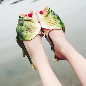 Fish Style EVA Material Summer Beach Sandals Simulation Fish Beach Slippers for Men and Women  Size: 38#
