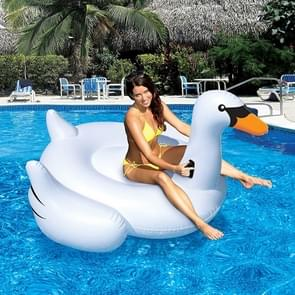 Inflatable Swan Shaped Floating Mat Swimming Ring  Inflated Size: 150 x 150 x 130cm