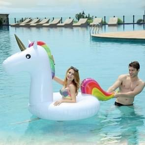 Inflatable Unicorn Shaped Swimming Ring  Inflated Size: 260 x 115 x 120cm