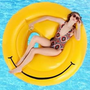 Inflatable Smiley Face Shaped Floating Mat Swimming Ring  Inflated Size: 160 x 160cm