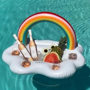 Swimming Pool Party Rainbow Cloud Drink Cup Bottle Beverage Serving Bar Holder Floating Spa Floats