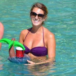 Inflatable Coconut Tree Shaped Floating Drink Holder  Inflated Size: About 21 x 21 x 22cm