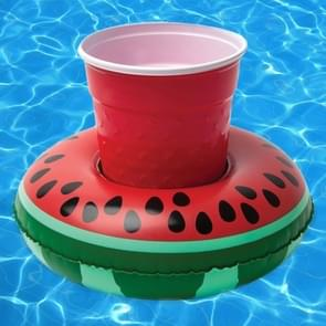 Inflatable Watermelon Shaped Floating Drink Holder  Inflated Size: About 19 x 19cm
