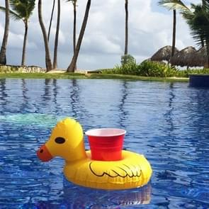 Inflatable Yellow Duck Shaped Floating Drink Holder  Inflated Size: About 23 x 19cm