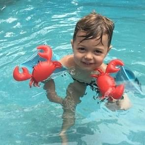 Children Inflatable Red Crabs Shape Arm Bands Floatation Sleeves Water Wings Swimming Floats  Size: 16x20x15cm