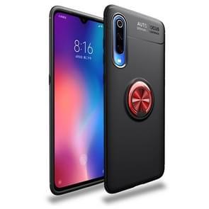 lenuo schokbestendig TPU Case voor Xiaomi mi 9  met onzichtbare houder (zwart rood)