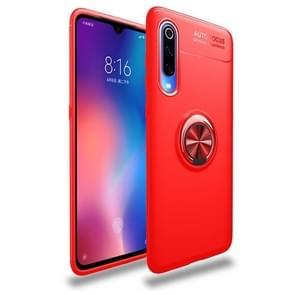 lenuo schokbestendig TPU Case voor Xiaomi mi 9  met onzichtbare houder (rood)