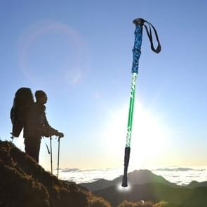 135cm Adjustable Portable Height Outdoor Aluminum Trekking Poles(Green)