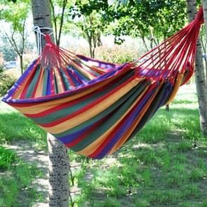 Stripe Outdoor Canvas Hammock Double People Swing Bed  Size: 280cm x 150cm