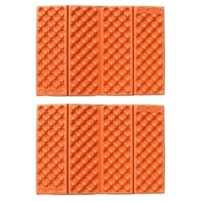 2 PC's Portable Folding cellulaire mobiele telefoons Massage kussen Outdoors vochtige bewijs picknick zetel matten EVA Pad(Orange)