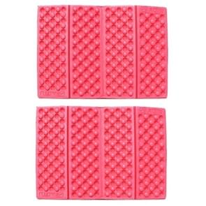 2 PCS Portable Folding Mobile Cellular Massage Cushion Outdoors Damp Proof Picnic Seat Mats EVA Pad(Red)