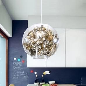 HANGLAMP YWXLight moderne glas kunst Creative hanger licht met E27 lamp Perfect voor keuken eetkamer slaapkamer (kleur: goud grootte: + Warm wit)