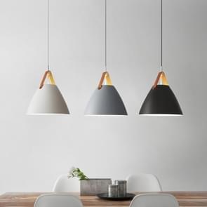YWXLight LED Nordic moderne eenvoudige hangende lamp creatieve ijzeren kunst hanger licht met E27 lamp perfect voor keuken eetkamer slaapkamer (kleur: grijs grootte: + koud wit)